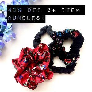 Accessories - NWOT Scrunchie Bunch! 💁🏼♀️ Four fun scrunchies!